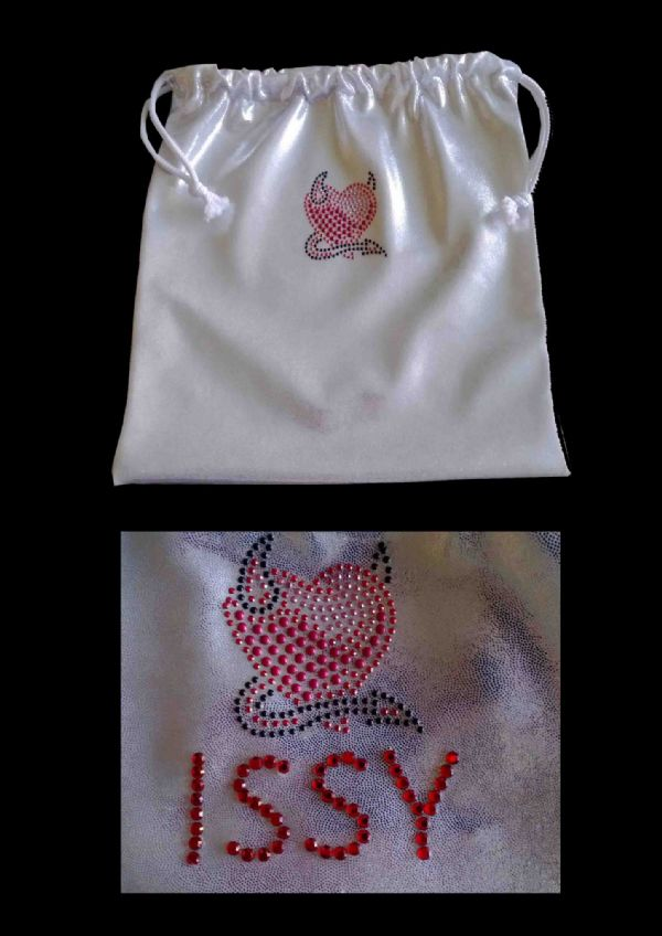 Personalised Handguard/Leotard Bags With Devil Heart Motif From £9.50